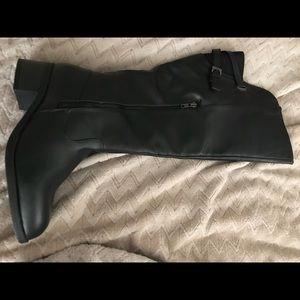 Shoes - Black wide calf boots